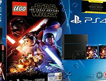 Sony PlayStation 4 500GB Console with LEGO Star Wars: The Force Awakens Game   Blu-Ray Movie