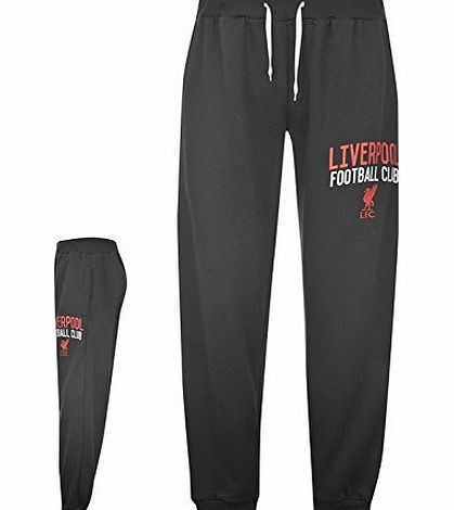 Source Lab Mens Liverpool FC Brushed Fleece Lining Printed Motif Joggers Black M