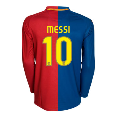 barcelona fc jersey 09 10. L/S home (Messi 10)