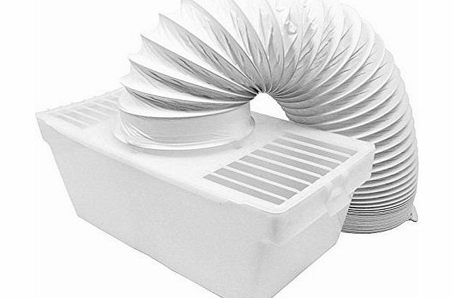 Spares2go Condenser Vent Box amp; Hose Kit for AEG Electrolux Tumble Dryers (4`` / 100mm)