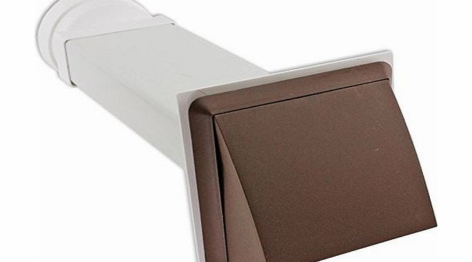 Spares2go External Wall Vent Cowl Kit for Indesit Vented Tumble Dryers (Brown)