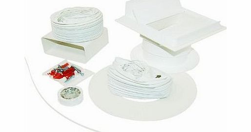 Vent Kit for White Knight Tumble Dryer (one brick type) suitable for Bosch Caple Cookers Homark White Knight Hygena Crosslee Electrolux Tricity Bendix Ariston Brandt Creda Hotpoint Indesit Proline Whi