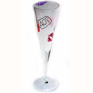 special Birthday Lips Single Flutes 40th product image