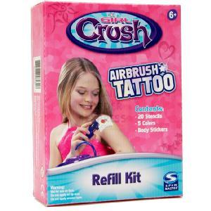 Spin master girl crush airbrush tattoo refill kit review for Airbrush tattoo kit