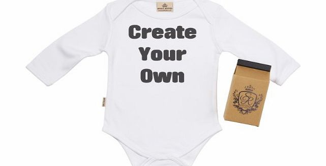 Spoilt Rotten Create Your Own CUSTOM Baby Vest 0-6M Gift Wrapped in Milk Carton White