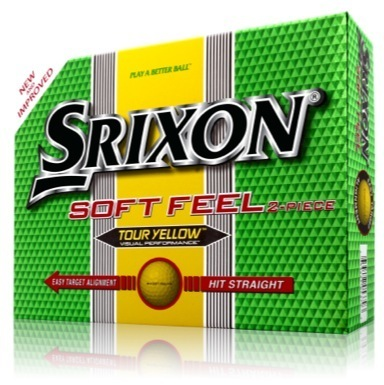 Soft Feel Golf Balls Tour Yellow