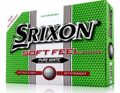 Soft Feel Mens Golf Balls - White, 12 Pack