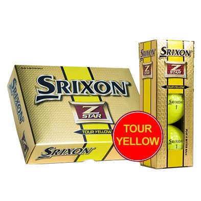 Z-Star Tour Yellow Golf Balls 12 Balls