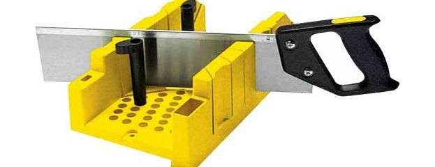 STANLEY CLAMPING MITRE BOX AND SAW 1-20-600 Patented clamping feature ...