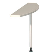 Staples Innovation Silver 1400 Peninsula Table - D Style product image