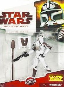 Star Wars 2009 Clone Wars Animated Action Figure Clone Trooper (Space Gear)
