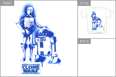 Star Wars Logo Shirt. Wars Droids) T-shirt