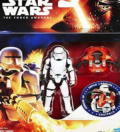 Star Wars The Force Awakens Armour Up First Order Flametrooper 3.75`` Action Figure Disney Hasbro