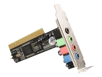 STARTECH .com 4 Channel Low Profile PCI Sound Adapter Card AC97 3D Audio Effects