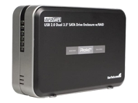STARTECH .com Dual 3.5in USB External Hard Drive Enclosure with RAID for SATA HDD product image