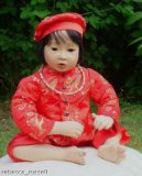 24 inch porcelain oriental doll Shen Chinese Doll Silk