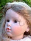 25 inch porcelain girl doll Sabrina cream dress