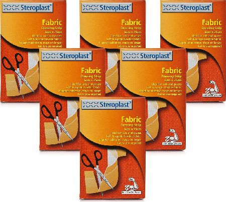 Steroplast, 2102[^]0106411 Fabric Dressing Strip - 6 Pack