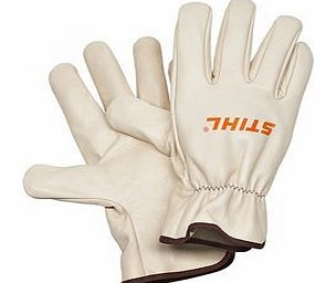 Genuine Stihl Leather Work Gloves (Large)