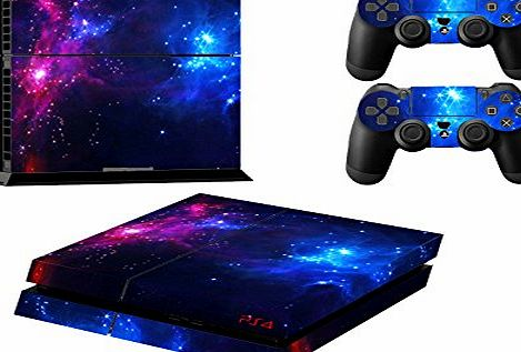 Stillshine Decal Full Body faceplates Skin Sticker For Sony Playstation 4 PS4 console x 1 and controller x 2 (double star)