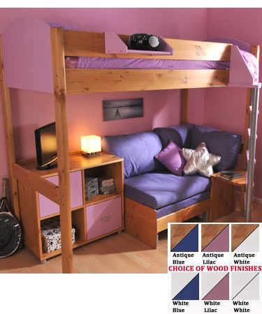 Sofa Beds Stompa Casa 8 Loft Bed With Sofa Bed Cupboard