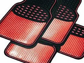 Heavy Duty Car Mat Set - Red
