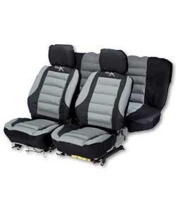 Mexican 9 Piece Seat Cover Set - Grey