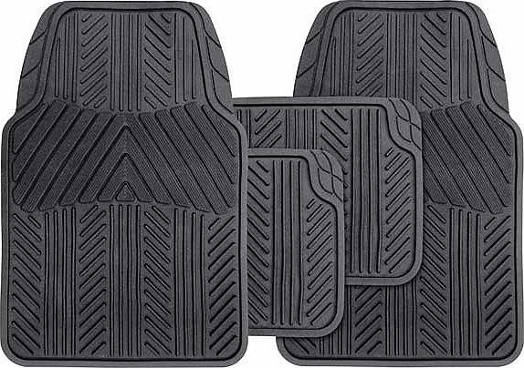 Set of 4 Premium Rubber Car Mats