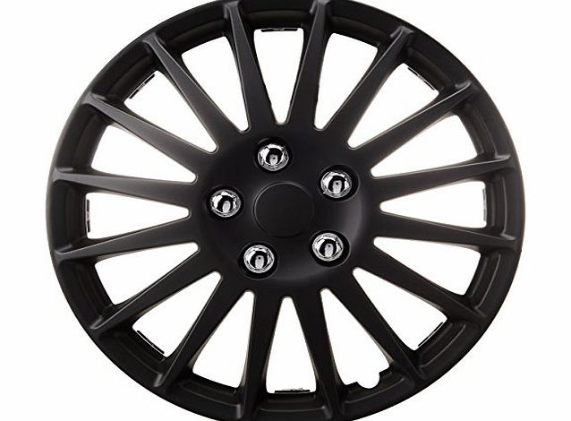 15`` Matt Black Lightning Premium Boxed Wheel Cover Set (Barcode EAN = 5026637618932). - CLICK FOR MORE INFORMATION