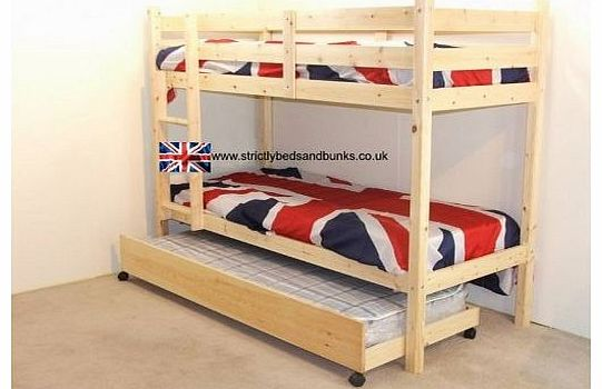 Strictlybedsandbunks Childrens Bunkbeds 3ft Twin Bunk Bed With Guest Bed 3 Budget Mattress