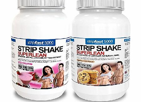 StripFast 5000 Diet Whey Protein Shakes, 5 x Fat Burners For Maxi Weight Loss