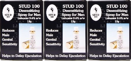 Stud 100, 2102[^]0072430 Desensitizing Spray For Men - Triple Pack
