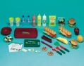 68-piece play food set