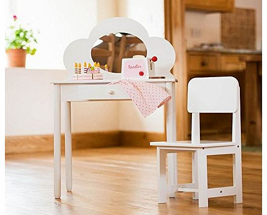 Childrens White Dressing Table & Chair