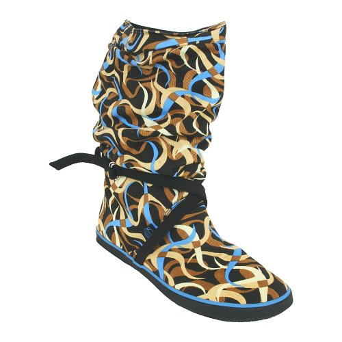 Sugar Ladies Sugar Graphic Scrunch Boot Confetti Blue