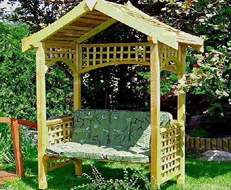 Summer Garden Buildings WOODEN GARDEN ARBOUR BENCH SEAT -PRESSURE TREATED TIMBER, TRELLIS, FAST DELIVERY