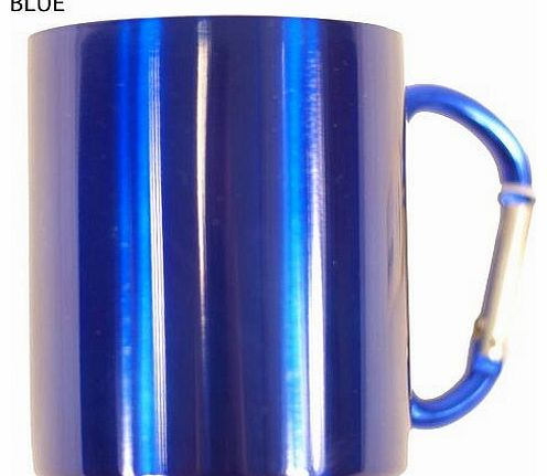 Camping Mug Double Wall Stainless Steel Carabina Handled Mug