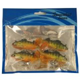 supplied by brytec uk fishing lures hooks PACK OF 4PC, 8.5CM PERCH SOFT BAITS product image