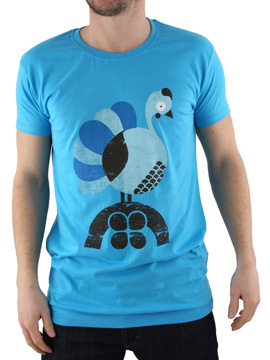 Supreme Being Cyan Partridge Organic T-Shirt product image