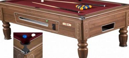 Supreme superpool prince slate bed free play pool table for Pool table 6 x 3