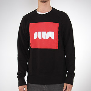 Sutsu Box Logo Crew neck sweatshirt - Black