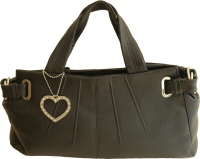 Suzy Smith large black leather handbag - review, compare prices, buy