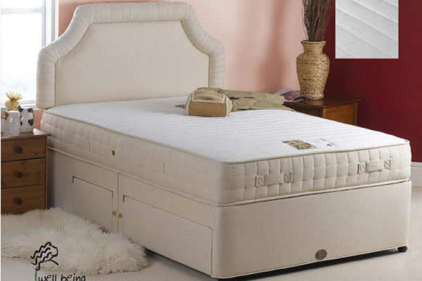Sweet dreams beds nurture divan bed double divan bed for Double divan bed no headboard