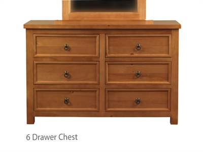 Hudson 6 Drawer Chest Small Single (2