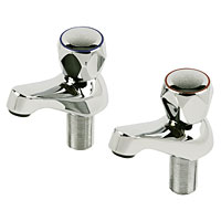 Contract Metal Head Basin Taps Pair