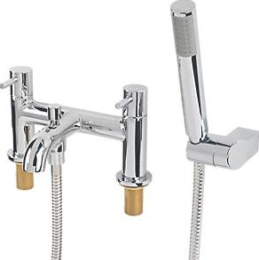 Swirl, 1228[^]3619C Ola Deck-Mounted Bath/Shower Mixer 3619C