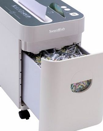 Swordfish 1100XCD 10 Sheet Cross Cut Space-Saver Paper/Document Shredder - White Ref: 40093 product image