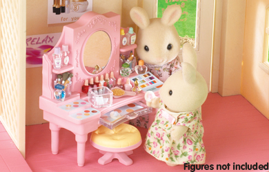 Sylvanian collectables reviews for Sylvanian families beauty salon dressing table