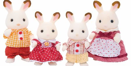 The Chocolate Rabbits are famous confectioners who make the most delicious chocolate creations. The Sylvanian Families Chocolate Rabbit Family Set includes Father Frasier Chocolate, Mother Teri, and brother Coco and sister Freya. - CLICK FOR MORE INFORMATION