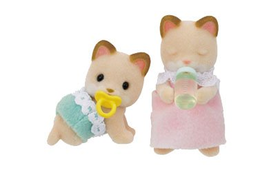 Sylvanian Families Cream Cat Twin Babies product image